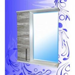Шкаф-зеркало Гамма Фасад 600/Дуб Винтаж Графит-Белый/Левый(Правый)