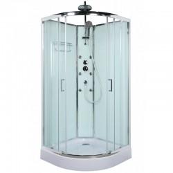 Душевая кабина BelBagno Uno R-2 90x90 профиль Хром стекло прозрачное