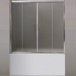 Шторка на ванну BelBagno Uno VF-2 170 профиль Хром стекло рифленое