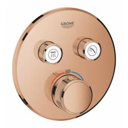 Внешняя часть термостатического смесителя для душа GROHE Grohtherm SmartControl теплый закат глянец (29119DA0)